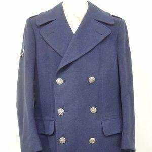 USAF Air Force Mens 35L Blue Wool Overcoat Uniform